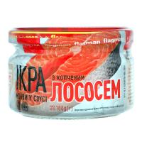 Ікра Flagman Мойви з копченим лососем у соусі с/б 180г х10