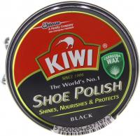 Крем для взуття з карнаубським воском Kiwi Shoe Polish Чорний, 50 мл