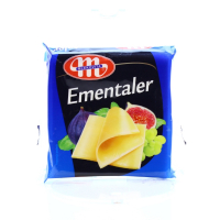 Сир плавлений Mlekovita Ементалер 22% нарізка 130г х14