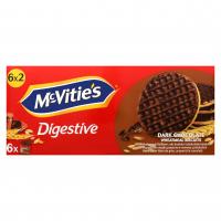Печиво McVitie`s пшеничне в темному шоколаді 6*33,3г