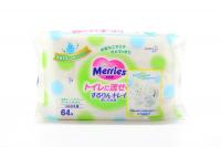 Серветки Merries вологі дитячі 64шт х6