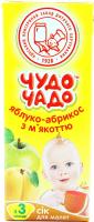Сік ОКЗДХ Чудо чадо яблуко-абрикос з м`якоттю 0,2л х12