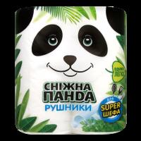 Рушники паперові рулонні Сніжна Панда Білий, 2 шт.