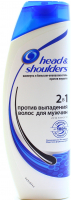 Шампунь і бальзам-ополіскувач проти лупи Head & Shoulders Проти випадіння волосся для чоловіків 2в1, 400 мл