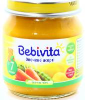 Пюре Bebivita Овочеве асорті 100г х6