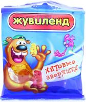 Цукерки АВК Жувіленд Хітові звіряшки 35г х20
