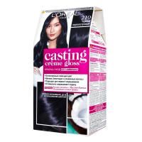 Фарба-догляд для волосся L'Oreal Paris Casting Creme Gloss Без аміаку №210 Чорний Перламутровий
