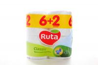 Туалетний папір Ruta Classic Білий, 8 шт.