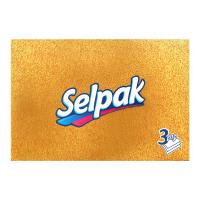 Серветки паперові косметичні Selpak Super Soft Білі, 70 шт.