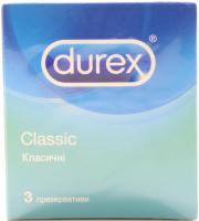 Презервативи латексні Durex Classic, 3 шт.
