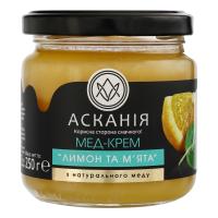 Мед-крем Асканія лимон та м`ята 250г х12