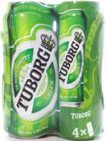 Пиво Tuborg Green з/б 4*0,5л