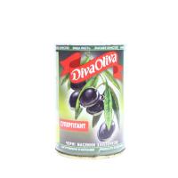 Оливки Diva Oliva чорні супергігант з/к 432мл х12