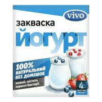 Закваска бактеріальна Vivo йогурт 3% 0,5гр х4