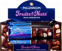 Шоколад Millennium молоч.з горіхами журавлиною/родзинками 50гх2