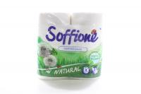 Папір туалетний Soffione білий 3шар. 2шт.