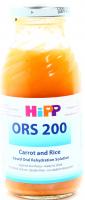 Напій Hipp ORS 200 моркв`яно-рисовий д/орал. регід. 0,2л х6