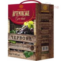 Вино Артемівське столове сухе червоне 9-14% 3л B&B
