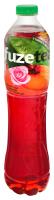 Напій FuzeTea чорний чай зі смаком персик-троянда пет 1,5л