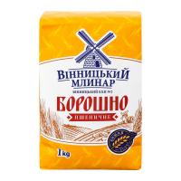 Борошно Вінницький млинар пшеничне в/с 1кг х30