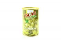 Оливки Oscar зелені з каперсами 300г х20