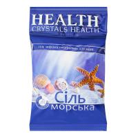 Сіль морська натуральна для ванн Crystals Health, 1 кг