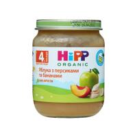 Пюре Hipp яблука з персиками та бананами 125г х6
