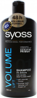 Шампунь для тонкого та позбавленого об'єму волосся Syoss Volume Collagen & Lift, 500 мл