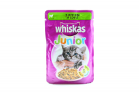 Корм Wiskas Junior д/кошенят з ягням в соусі 100г х24