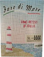 Винo Faro Di Mare Vino Rosso сухе червоне 3л x6