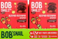 Цукерки Bob Snail Choc Яблучно-полуничні в чорн.шок. 60г х15