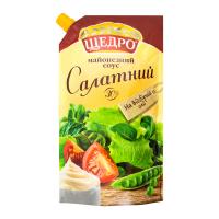 Соус майонезний Щедро Салатний 30% д/п 550г