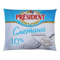 Сметана President 10% п/е 350г х20