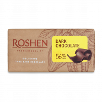 Шоколад Roshen чорний 56% 90г