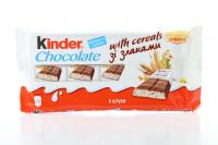 Кіндер Chocolate зі злаками 4шт 94г х16