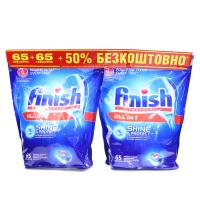 Засіб Finish All in 1 д/миття посуду у ПММ 2уп.*65 таб. х6