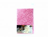 Скатертина паперова з візерунком Silken 100*100см Рожева, 1 шт.