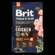 Корм Brit сухий для дорослих собак з куркою 3кг х6