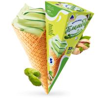 Морозиво Рудь Пломбір фісташка ріжок 70г х20