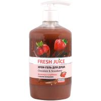Крем-гель для душу Fresh Juice Шоколад і Полуниця, 750 мл