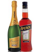 Набір №14 Aperol Aperitivo 11% 1л + Вино ігристе Cinzano Prosecco біле сухе 11% 0.75л х3