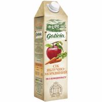 Сік Galicia Яблучно-морквяний не з концентрату 1л
