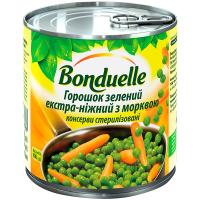 Горошок Bonduelle зелений екстра-ніжний з морквою 425мл
