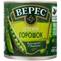 Горошок Верес зелений ж/б 400г