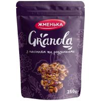 Гранола з насінням та родзинками Жменька Україна 250г