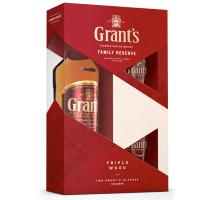 Віскі Grants Family Reserve 0,7л + 2 бокала