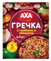 Каша AXA гречана з грибами та овочами 40г