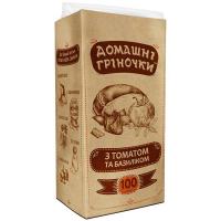 Грінки Домашні Гріночки з томатом та базиліком 100г