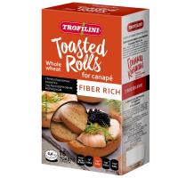 Грінки Trofilini Toasted Rolls пшеничні канапні з цільнозерновим борошном 70г