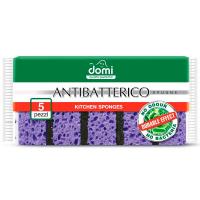 Губка Domi кухонні антибактеріальні 5шт